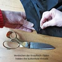KIMONO KLEID mit Stehkragen, in mehreren Farben, 3/4 Arm, doppelreihig Bild 9