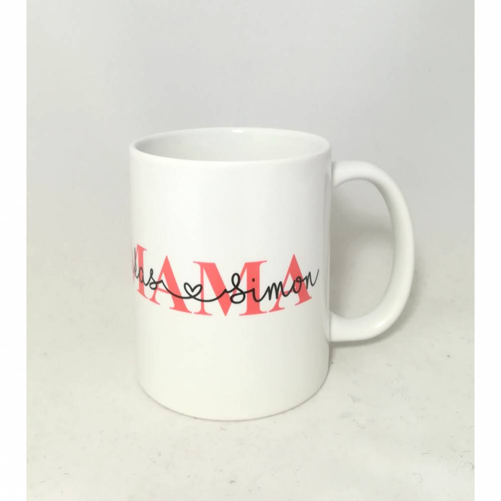 """Tasse """"Mama"""" personalisiert mit den Namen der Kinder Bild 1"""