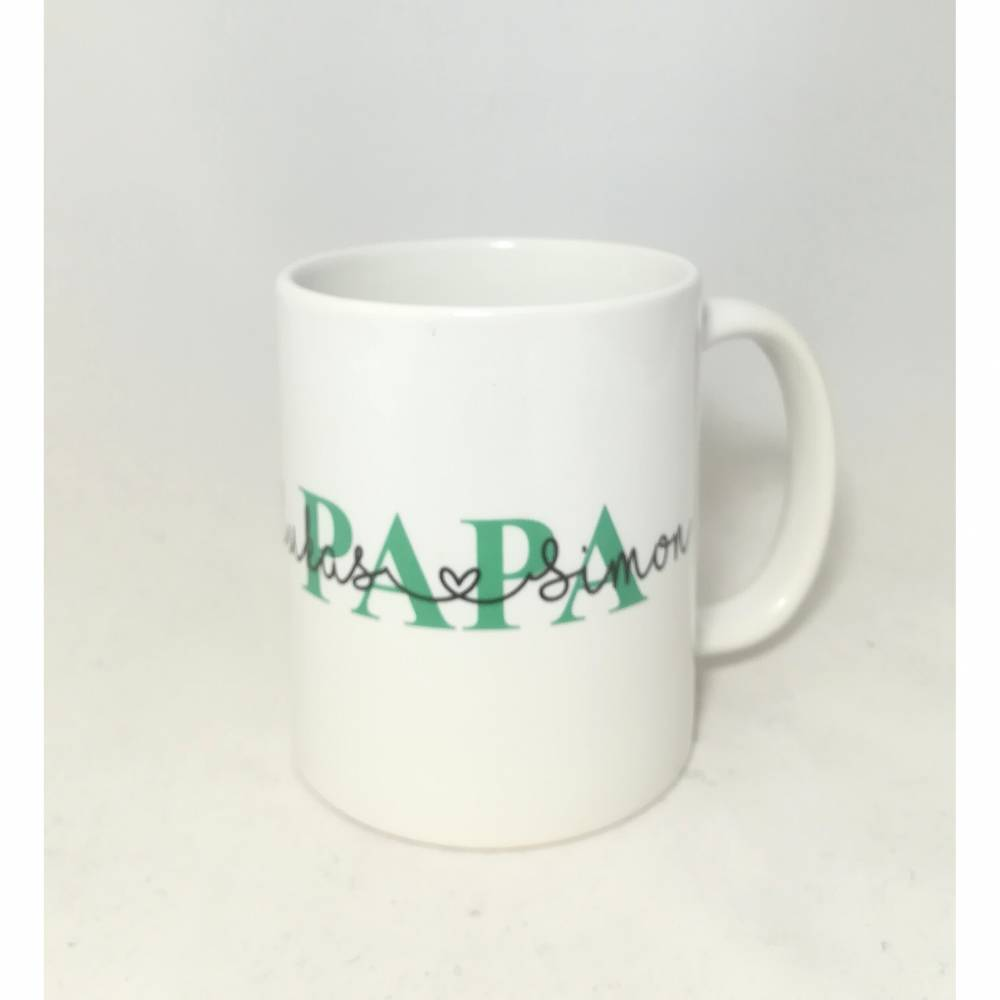 """Tasse """"Papa"""" personalisiert mit den Namen der Kinder Bild 1"""