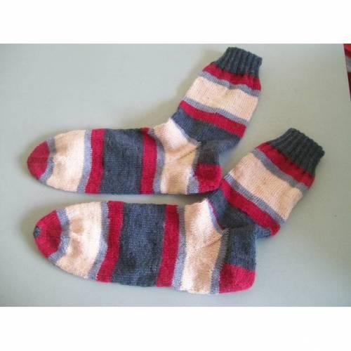 Handgestrickte Damensocken, Größe 42