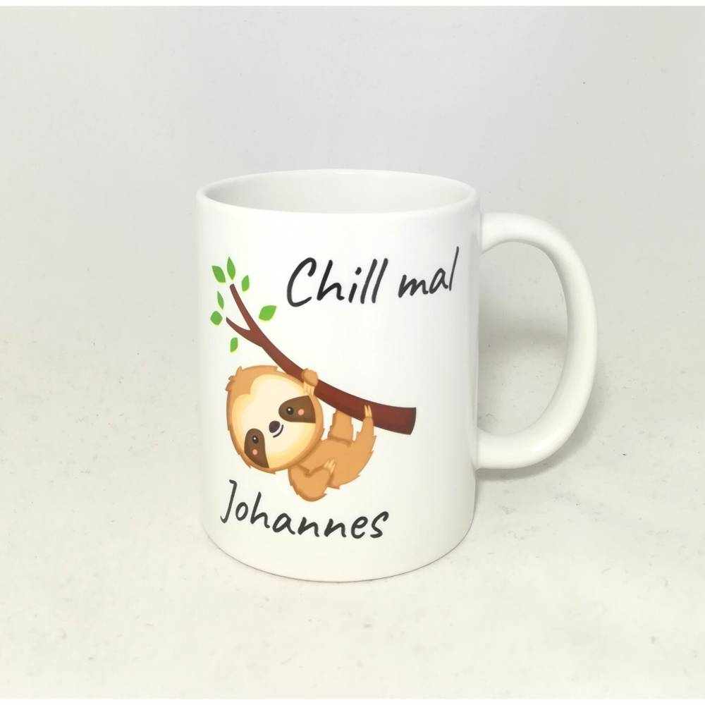 "Tasse mit Namen personalisiert Motiv ""Chill mal"" Bild 1"