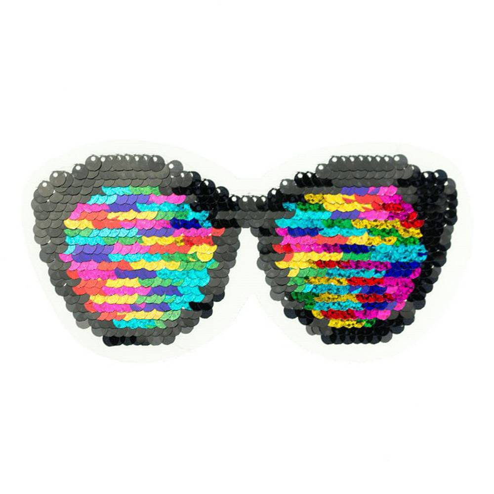 Wendepailletten Patch Aufnäher Applikation Sonnenbrille Shades Bild 1