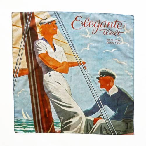 ART-DÉCO TUCH Baumwolle und Seide, Art-Nouveau, 1930er Jahre