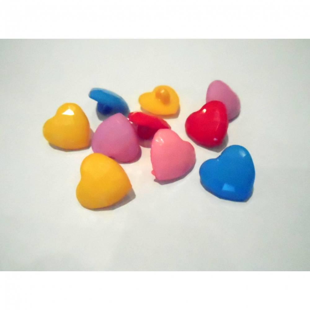 Kunststoff - Knopf Herz 15 mm mit Öse Bild 1