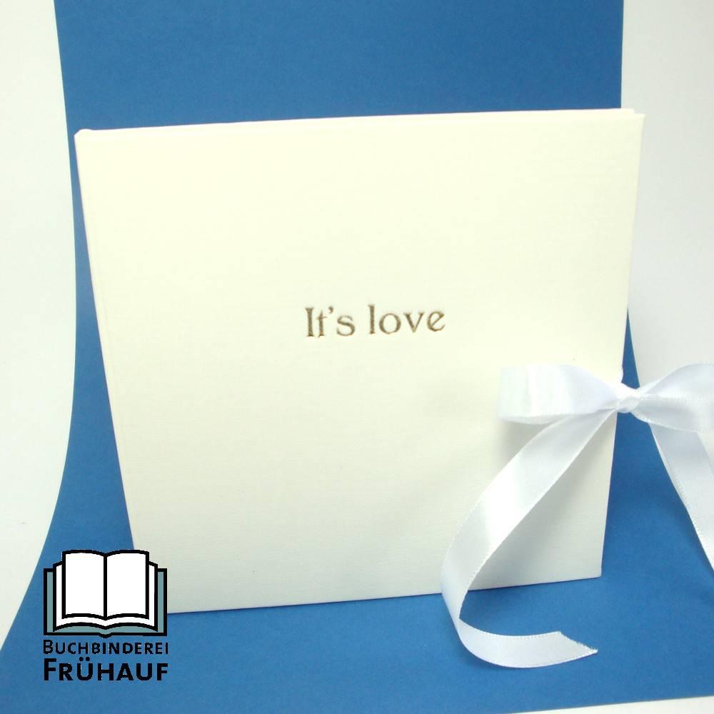 CD Hülle Hochzeit It`s love Goldprägung Bild 1