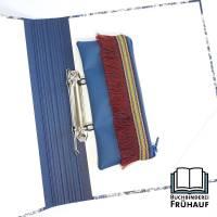 Ordnermäppchen Federmäppchen für Ringordner Schlampermäppchen blau mit Fransen Bild 1