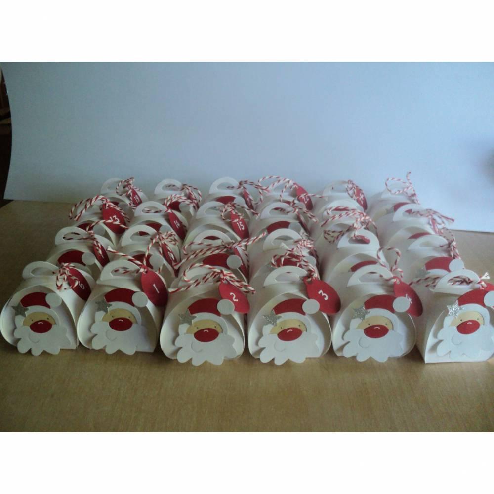 Adventskalender Weihnachtsmann Weihnachtskalender Kinder Zierschachteln Boxen Schachteln zum  Befüllen Junge Mädchen Bild 1