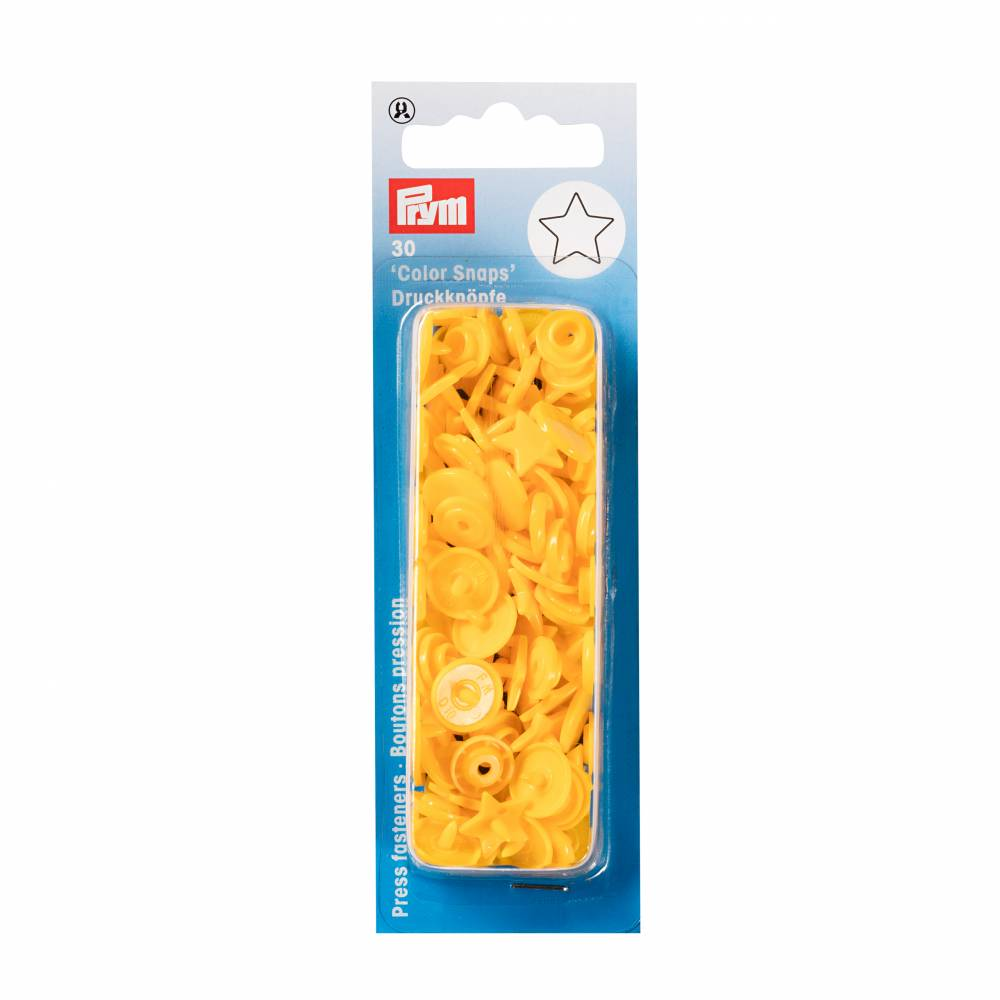 Prym Love Druckknöpfe Color Snaps Stern gelb 30 Stk. 12,4mm Bild 1