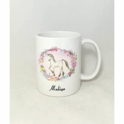 """Tassen mit Namen personalisiert Motiv """"Pferd"""""""
