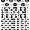 Cabochon-Vorlagen Pusteblumen mit Sprüchen, schwarz-weiß, live, laugh, love, Set C, 21 Motive 3 Größen 12 mm, 14 mm, 25 mm Bild 2