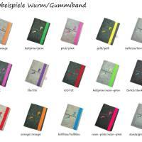aufklappbare eReader Hülle Bücherwurm Wollfilz Farbwahl Maßanfertigung Bild 7