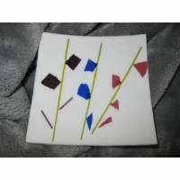 """Glasteller """"Wish Dish""""  kleine Platte leicht gebogen Bild 1"""