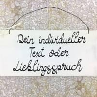 Holzschild Türschild WUNSCHTEXT Vintage selber gestalten Dekoration Spruch personalisiert handgemacht individuell Deko Geschenk Haustür Bild 1