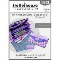 """Nähanleitung in Papierform Geldbeutel """"Emma"""" Bild 1"""