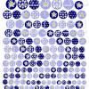 180 Cabochon-Bilder digital, Set mit 8 Größen, Edelweiß Hellblau Blau, z.B. für Cabochon-Schmuck Bild 2