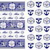 Scrapbooking Papier maritim, Blautöne, 12 Seiten zum Ausdrucken Bild 4