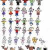 Familienschild Türschild Holz Namensschild Familie auf Fahrrad Holzschild Tandem handbemalt Wunschtext Wunschfiguren Bild 5