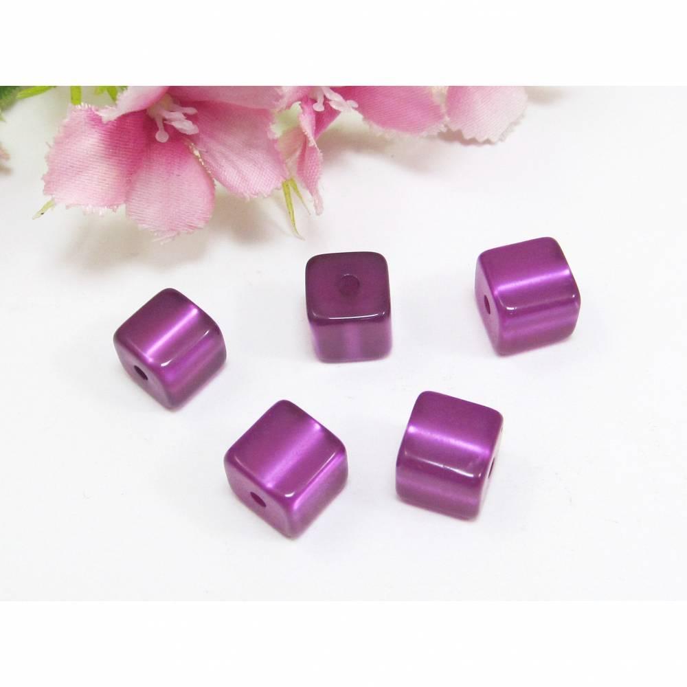 5 Polaris Würfel glänzend, Farbe lila Bild 1