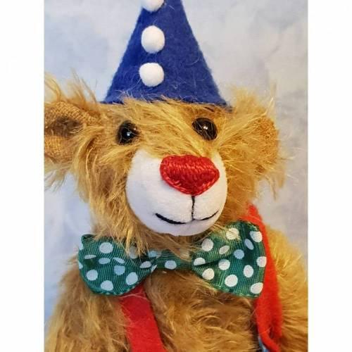 Clown Peppi, Künstlerbär, handgefertigt, ca 23cm