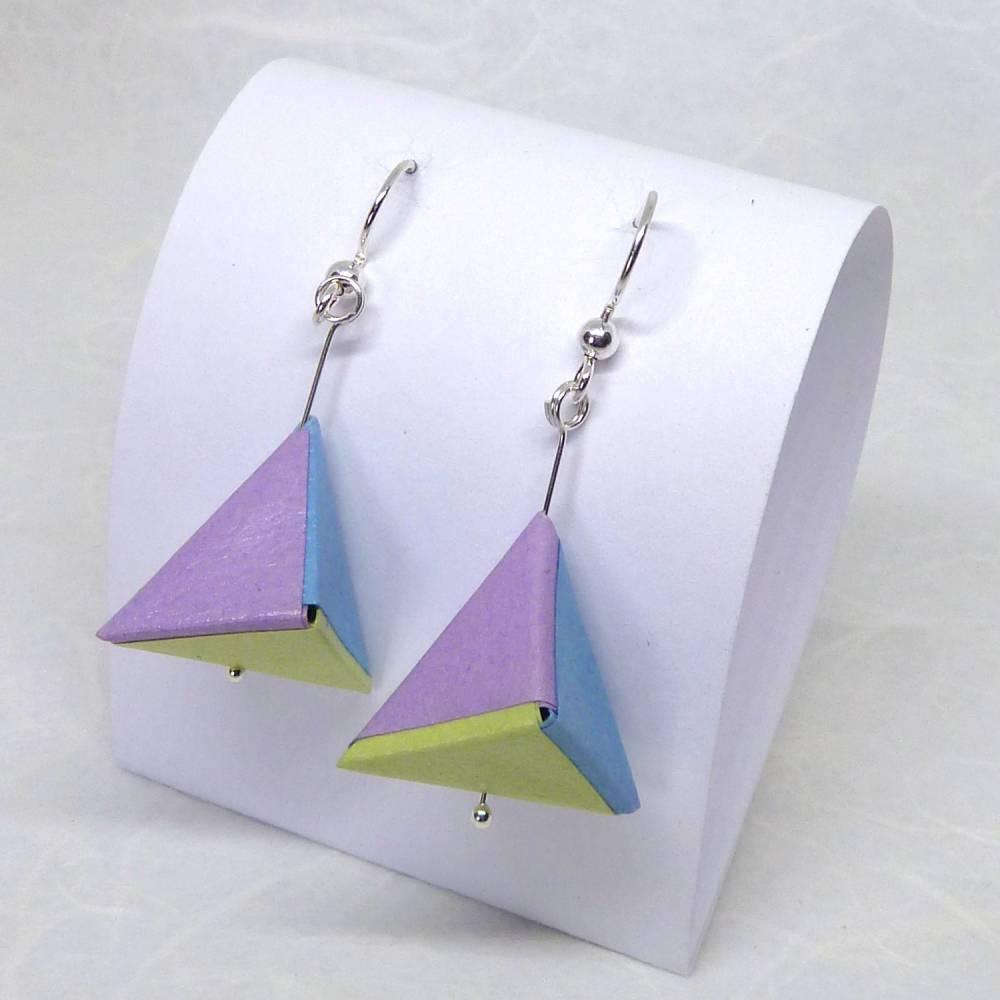 Ohrhänger Doppel-Pyramide pastell Bild 1