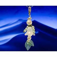 Schlüsselcharme - Meerjungfrau aus Perlen / Perlenengel mal anders, Gastgeschenk, Geschenk Bild 1