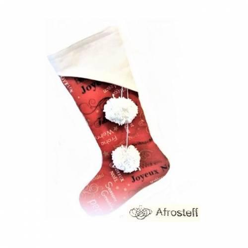 Nikolausstiefel/ Kaminsocke, befüllbarer Nikolaus Stiefel zum Aufhängen