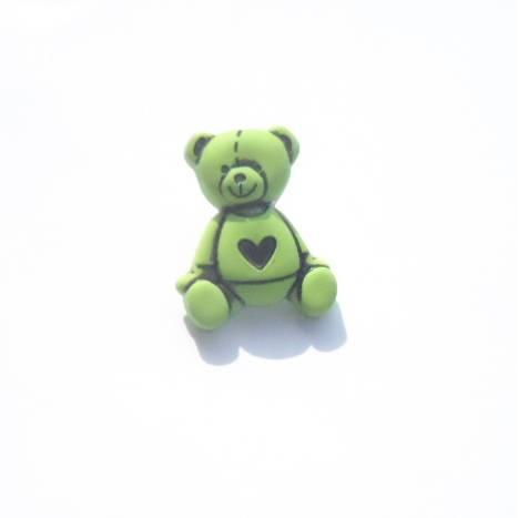 Kinderknopf Bär lindgrün Bild 1