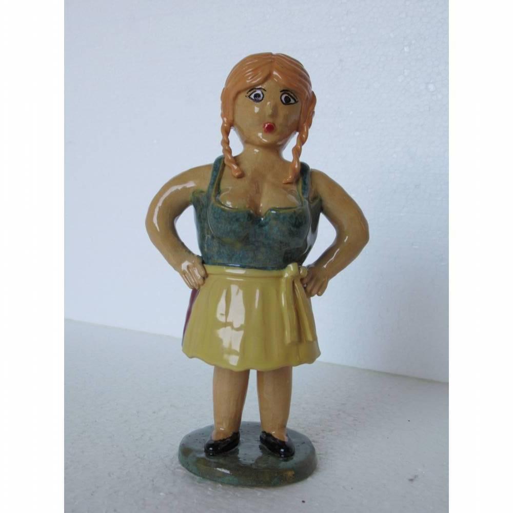 Dirndlresi Figurine, Skulptur, Keramik, Statue, Deko Bild 1