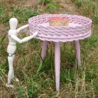 Beistelltisch, Blumentisch 50er Jahre, Kreidefarbe  *lovely Rose* Shabby Chic Handarbeit von pimp-factory Bild 1