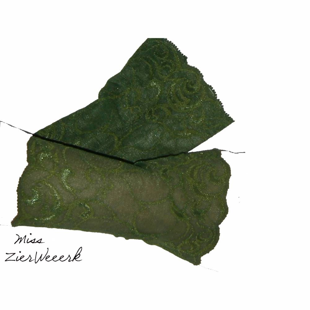 Armstulpen Spitze grün kurz, Gr. S Bild 1
