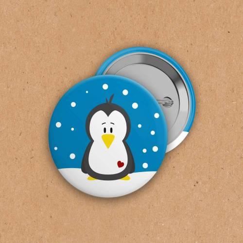 Button - Pinguin - 38 mm