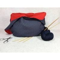 Projekttasche mit Punkten schwarz rot weiß - Rockabilly Bild 1