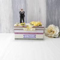 Geldgeschenk Schwulenhochzeit, Hochzeitsgeschenk, lila grün, Homosexuellen, Geldgeschenk zur Hochzeit Bild 1