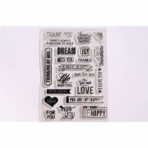 Stempel Silikonstempel Clearstamps Danke Love Dream