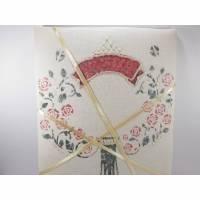 Memo-Board im Vintage-Stil-rote Rosen-Pinnwand im Shabby-Stil-Unikat Bild 1
