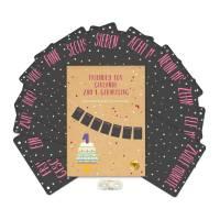 Girlande zum 1. Geburtstag - Fotogirlande für die Meilensteinen im 1. Lebensjahr - Wimpelkette - Kinderzimmer Dekoration - Punkte Bild 1