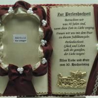 Deko-Buch Perlenhochzeit für Foto – 30. Hochzeitstag (mit Holz-Buchständer) Bild 2