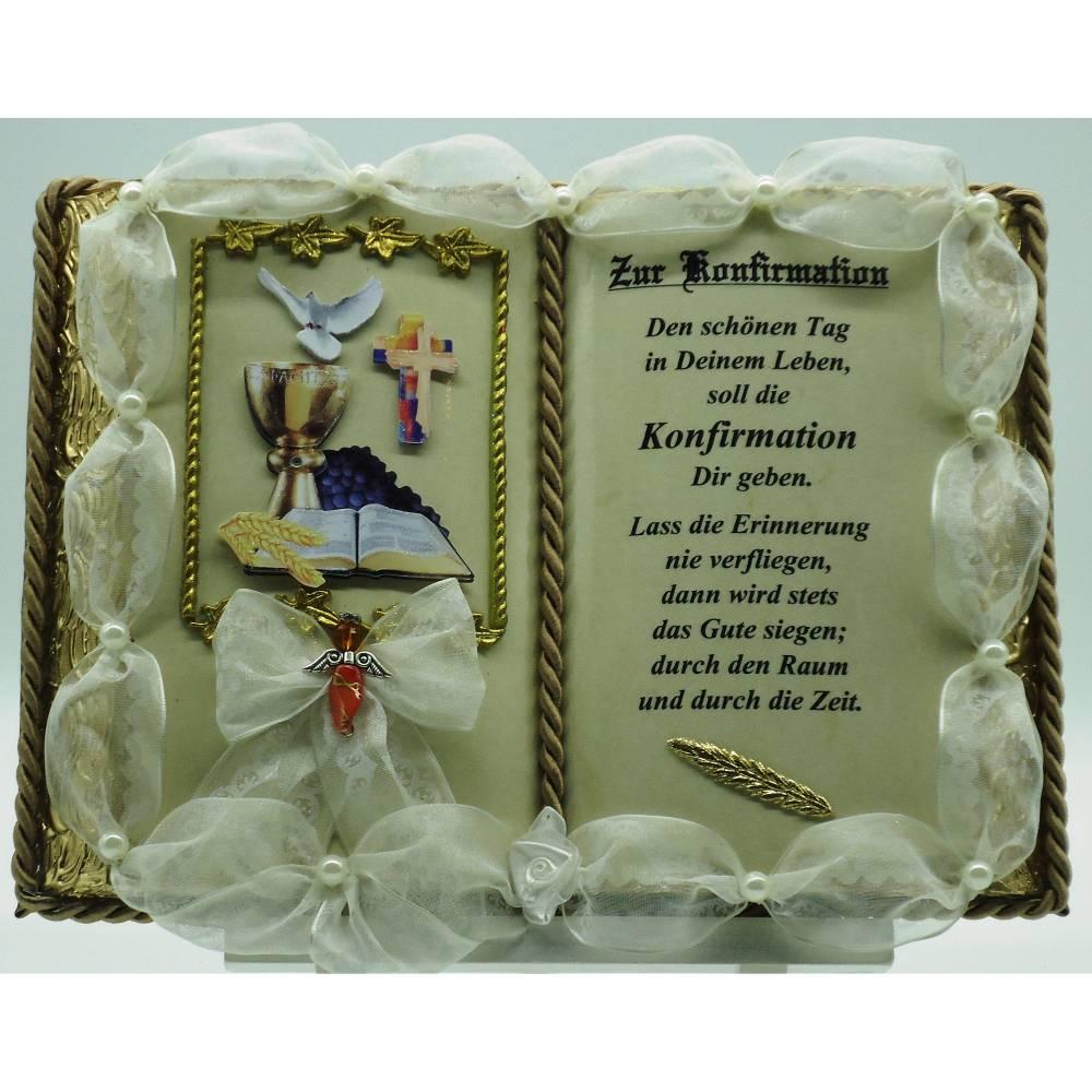 Konfirmation - Dekobuch (mit Holz-Buchständer) Bild 1