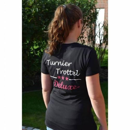 T-Shirt - Turniertrottel Deluxe - schwarz - für Damen