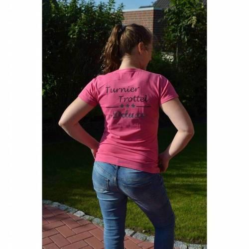 T-Shirt - Turniertrottel Deluxe - pink meliert  - für Damen