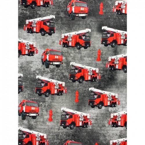 0,5 m EINSATZFAHRZEUGE Jersey, grau - rot
