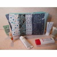Kulturbeutel, Projekttasche, Mäppchen, Stricktasche, Kosmetiktasche, mit Reißverschluß, Clutch Bild 1