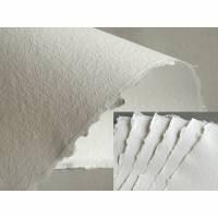 10 Blatt handgeschöpftes, weißes Papier, ca. 21 cm x 30 cm, ca. 130 g/qm bis 160 g/qm, Büttenpapier, Künstlerpapier, Briefpapier Bild 1