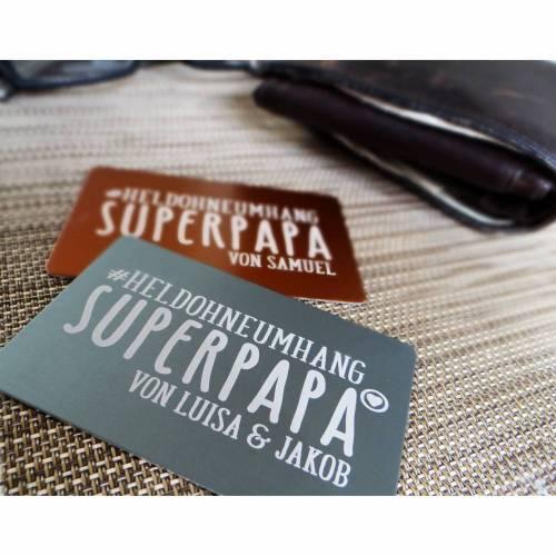 Wortschatz - Superpapa - Geldbeutel-Liebesbrief mit Wunschtext, Kinderschrift, Kinderzeichung