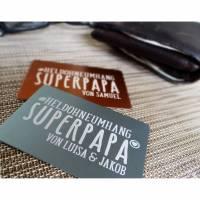 Wortschatz - Superpapa - Geldbeutel-Liebesbrief mit Wunschtext, Kinderschrift, Kinderzeichung Bild 1