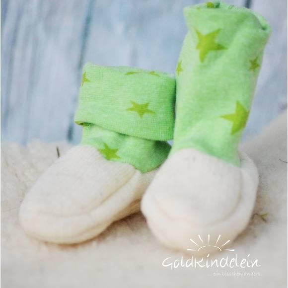 Baby-Schuhe aus Woll-Walk, warm und weich, perfekt für Baby-Trage, Tragetuch, Kinderwagen, Walkschuhe, Wollschuhe Bild 1