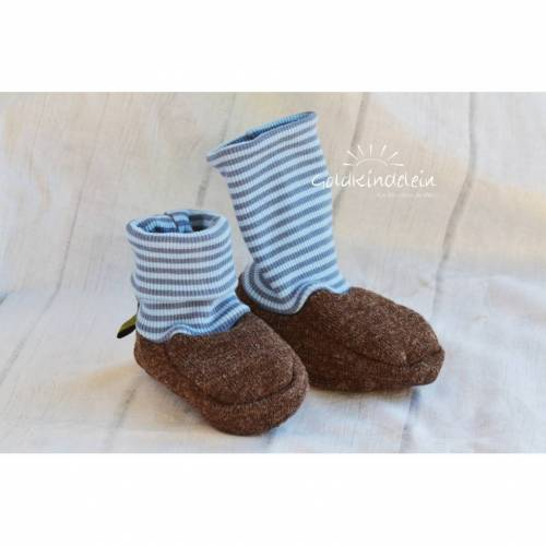 Baby-Schuhe aus Woll-Walk, warm und weich, perfekt für Baby-Trage, Tragetuch, Kinderwagen, Walkschuhe, Wollschuhe