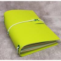 Travelers Notebook (Midori, Fauxdori) aus Kunstleder in grün - 4 Heften zum Auswechseln dabei Bild 1