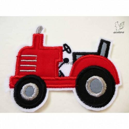 Traktor -- Aufnäher in verschiedenen Größen (S-XL) -- Bügelbild -- Applikation zum Aufbügeln