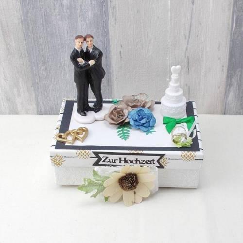 Geldgeschenk Schwulen Hochzeit, Hochzeit, Homosexuellen heirat, blau, grün